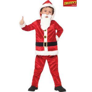 Déguisement Père Noël avec gros ventre et puce sonore enfant 4 à 6 ans