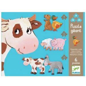 Djeco 56765 - Puzzle Géant - Pâquerette Et Ses Amis - 9 pièces