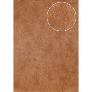 Atlas Papier peint aspect pierre carrelage ICO-3705-5 papier peint intissé lisse moucheté satiné brun bronze 7,035 m2