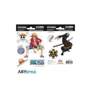 Abystyle Stickers One Piece - 16x11cm / 2 planches - Luffy & Law