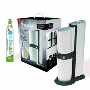 Sodastream Crystal - Machine à gazéifier l'eau du robinet avec 1 bouteille verre de 0,6L