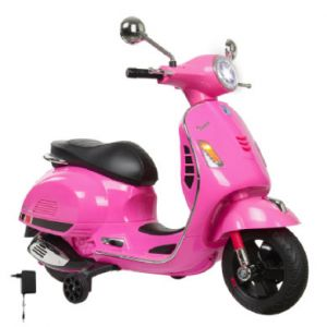 Jamara Trottinette électrique 6 V Ride-on Vespa rose
