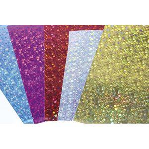Exacompta 354696C - Sachet de 10 feuilles de carton prismatique 1 face, 195 g/m², 0,50m x 0,35m, coloris assortis (5 teintes)