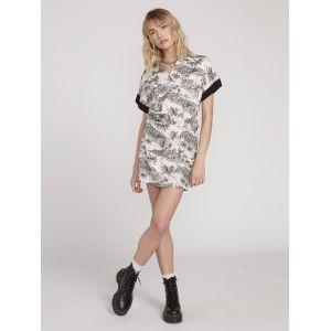 Volcom Robe courte VACAY ME SS DRESS Blanc - Taille S,M,L,XL,XS