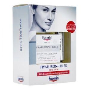 Eucerin Hyaluron-Filler - Anti-âge jour peaux sèches 50ml + Contour Yeux 15ml Offert
