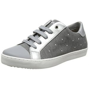 Geox J Kilwi M, Baskets Basses Fille, Gris (Grey), 35 EU