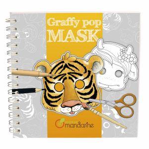Avenue mandarine Carnet de coloriage Graffy Pop Mask : Animaux