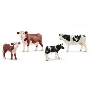 Schleich Figurines animaux de la ferme (veaux et vaches)