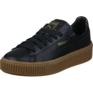 Puma Basket Platform Core, Sneakers Basses Femme, Noir Black Black, 40 EU