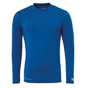 Uhlsport Baselayer Distinction - Maillot à manches longue - Homme - Bleu (Azur) - Taille: XS