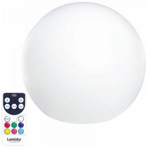 Lumisky Boule lumineuse sans fil flottante LED multicolore dimmable C20 ?20cm avec télécommande et socle à induction