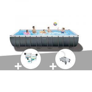 Intex Kit piscine tubulaire Ultra XTR Frame rectangulaire 7,32 x 3,66 x 1,32 m + Kit de traitement au chlore + Robot nettoyeur