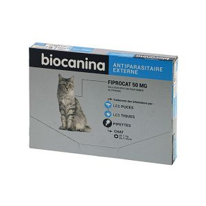 Biocanina FiproCat 50mg - 3 pipettes