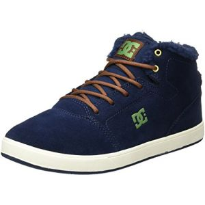 DC Shoes Crisis High WNT, Sneakers Basses Garçon, Bleu (Dark Navy), 35 EU