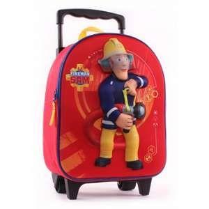 Sac à roulettes maternelle Sam le pompier 31 cm
