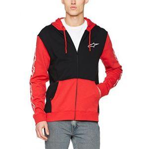 Alpinestars Sweat zip capuche Machine rouge/noir - M