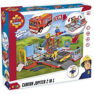 Smoby Sam le Pompier Camion Jupiter Transformable 2-en-1