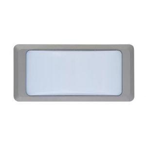 Horoz Electric Hublot BADEM rectangulaire gris à LED 12W (Eq. 96W) IP65 4200K Dim. 230x110x76mm