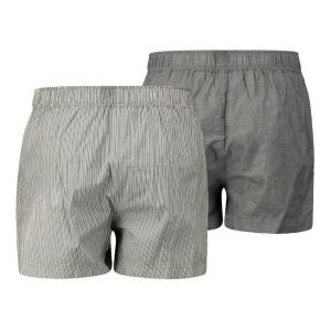 Levi's 300ls Striped Chambray Woven Boxer 2 Pack - Anthracite Denim - L