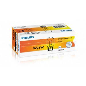 Philips 10 ampoules 12V 21W T20 W3x16d