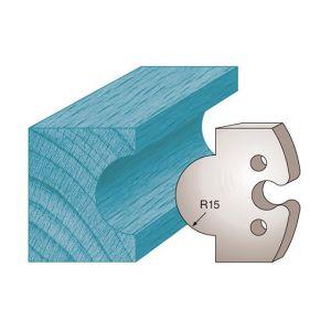 Diamwood Platinum Jeu de 2 fers profilés Ht. 50 x 5,5 mm gueule de loup M226 pour porte-outils de toupie