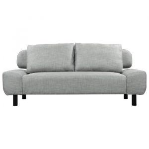 ELIOT Banquette clic clac convertible 2 places Tissu gris clair Style contemporain L 186 x P 93 cm