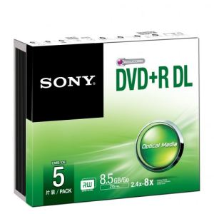 Sony 5DPR85SS - 5 DVD+R DL 8.5 Go 8x boîtier étroit