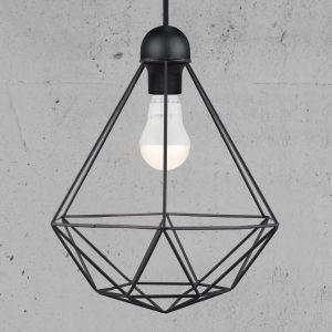 Nordlux Suspension LED E27 EEC: selon lampoule (A++ - E) 60 W Tees 84863003 noir