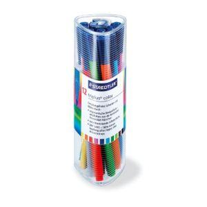 Staedtler 323PR12 - Gobelet de 12 feutres de coloriage triplus color