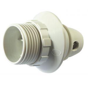Legrand Douille E14 en plastique + bague - blanc - Accessoire luminaire