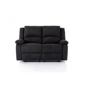 RELAX Canapé de relaxation 2 places Tissu noir L144 x P93 cm