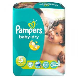 Pampers Baby Dry taille 5 Junior 11-25 kg - 23 couches