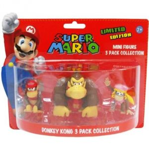 Abysse Corp 3 figurines Donkey Kong Super Mario de collection