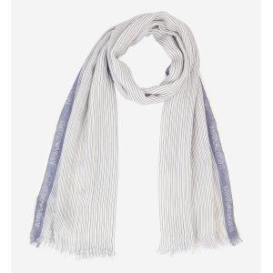Armani Jeans Foulard Emporio Armani blanc à imprimé fines rayures Multicolore