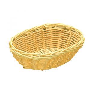 AZ Boutique Corbeille à pain ovale 25cm x 16,6cm - polypropylène - aspect osier - Corbeille polypropylène