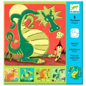 Djeco Pochoirs Dragons