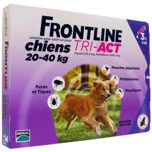 Frontline Tri-Act Chiens 20-40 Kg Boite de 3 Pipettes
