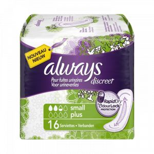 Always Discreet - 16 serviettes pour fuites urinaires Small Plus