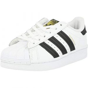 Adidas Superstar C, Basket Mixte Enfant, FTWR White/Core Black/FTWR White, 34 EU