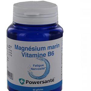 Powersanté Magnésium Marin- Vitamine B6 - 60 gélules