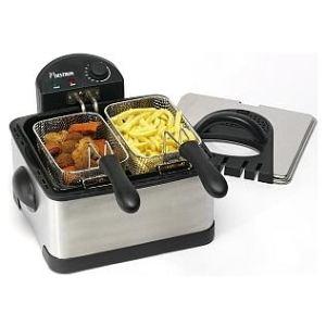 Bestron DF402 - Friteuse électrique Cool Zone Fammille Fryer 2 bacs 1,5kg