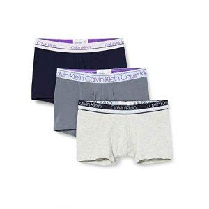 Calvin Klein Underwear Trunk 3 Pa S Cinder / Light Grey Heather / Lost Blue - Cinder / Light Grey Heather / Lost Blue - S