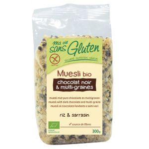 Ma vie sans gluten Muesli Bio chocolat noir & multi-graines (300g)