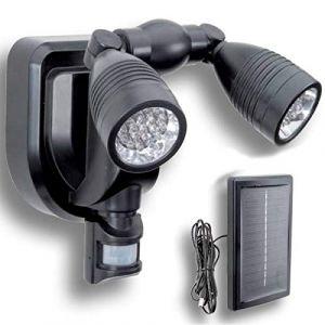 ProBache Lampe double projecteur solaire orientable 38 leds avec détecteur de mouvement -