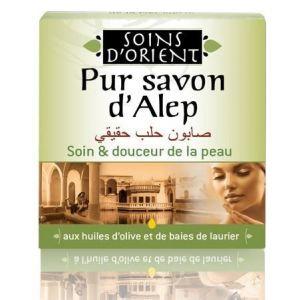 Soins d'orient Savon d'Alep aux huile d'olives et de baies de laurier