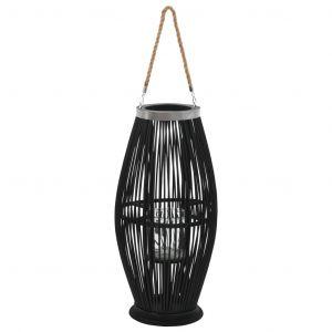 VidaXL Bougeoir suspendu Bambou Noir 60 cm