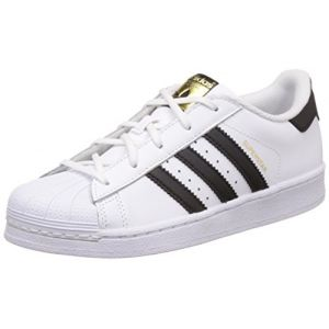 Adidas Superstar Foundation, Baskets Mixte Enfant, Blanc (Footwear White/Core Black/Footwear White 0), 33 EU