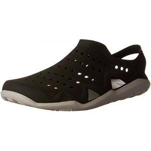 Crocs Swiftwater Wave Men, Sandales à Bout Fermé Homme, Noir (Black/Pearl White 069), 48/49 EU