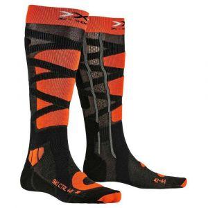 X-Socks Ski Control 4.0 Anthracite/Orange Chaussettes de ski Homme