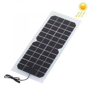 WeWoo Panneau solaire pour la batterie de voiture de 12V Chargeur de monocristallin de silicium 10W 12V de sports de plein air portatif avec le port femelle de DC5521 et câble d alimentation de CC
